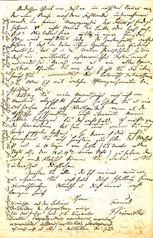 """Two autograph letters signed; """"F. Körnicke,"""" to Christian August Friedrich Garcke, November 18, 1856 and April 30, 1858. Friedrich August Körnicke."""