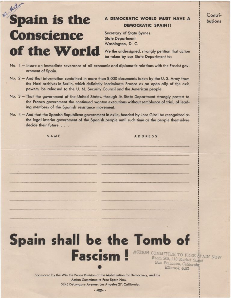 Spain is the Conscience of the World. Spanish Civil War.