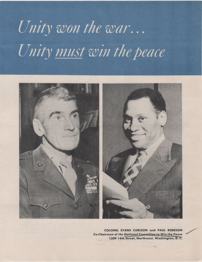 Unity won the war...Unity must win the peace; [cover title]. Cold War.