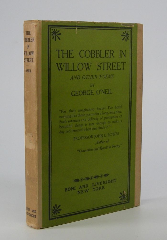 The Cobbler in Willow Street; and Other Poems. George O'Neil.