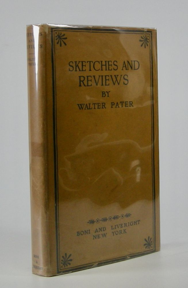 Sketches and Reviews. Walter Pater.