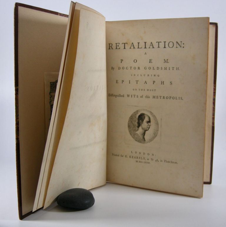 Retaliation:; A Poem. Including Epitaphs on the Most Distinguished Wits of this Metropolis. Goldsmith, Oliver.