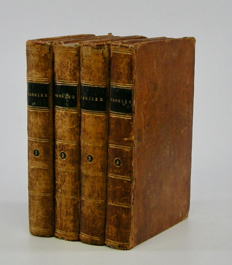 The Rambler.; In Four Volumes Embellished with Elegant Frontispieces . . Samuel Johnson.