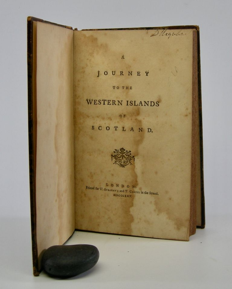 A Journey to the Western Islands of Scotland. Samuel Johnson.