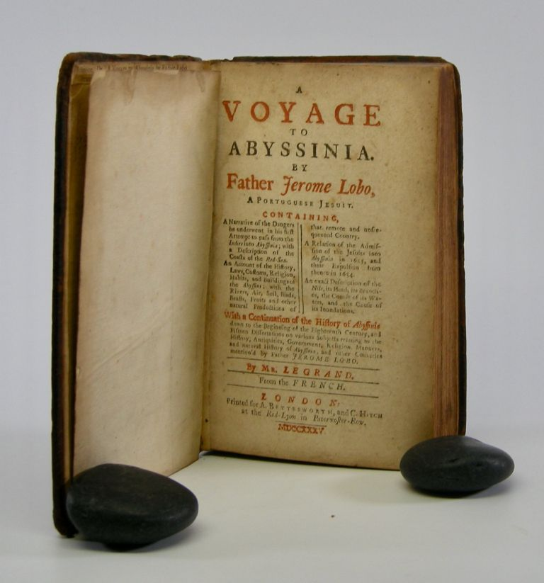 A Voyage to Abyssinia.; By Father Jerome Lobo, A Portugese Jesuit. . . With a Continuation of the History of Abyssinia . . . By Mr. Legrand. From the French. Samuel Johnson.