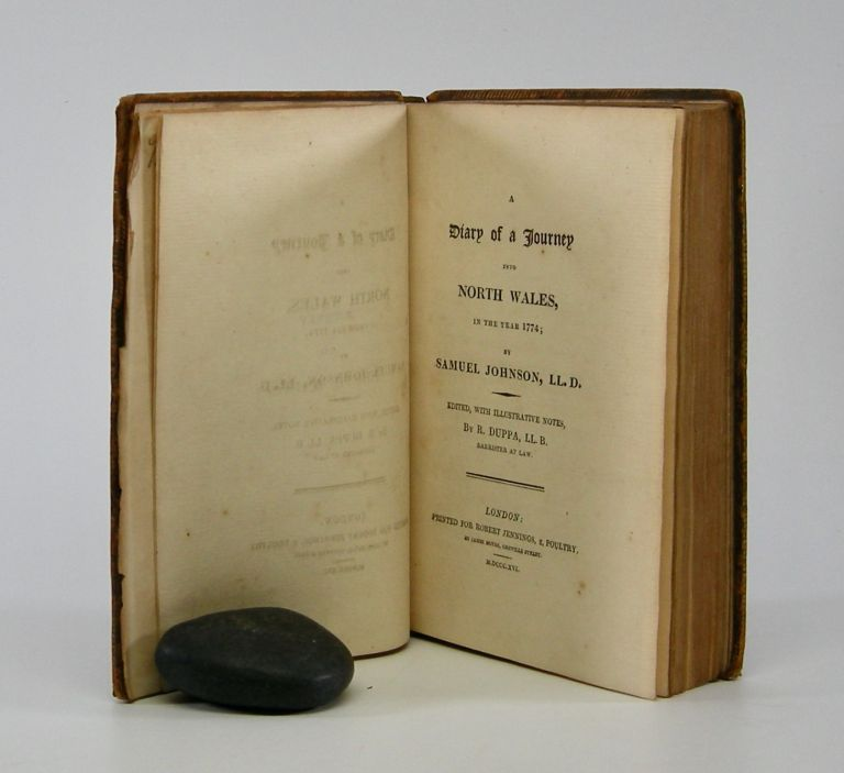 Diary of a Journey into North Wales,; In the Year 1774; Edited, with Illustrative Notes, by R. Duppa, LL. B. Samuel Johnson.