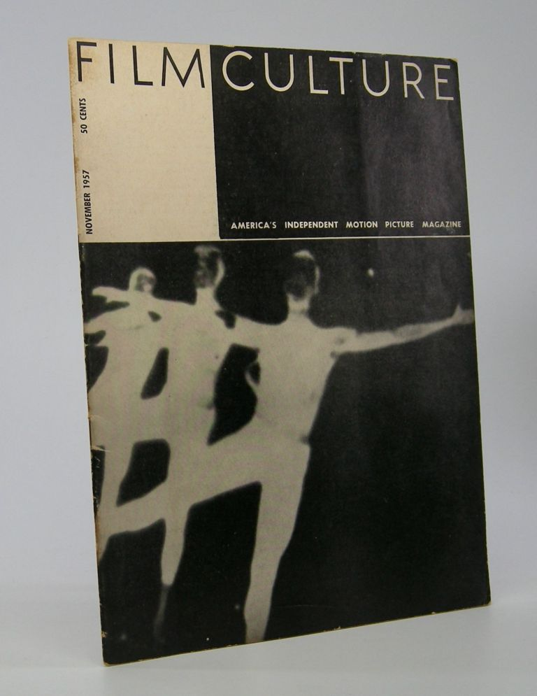 Film Culture; The Motion Picture and TV Monthly. Volume III, No. 4. Cinema Periodical.