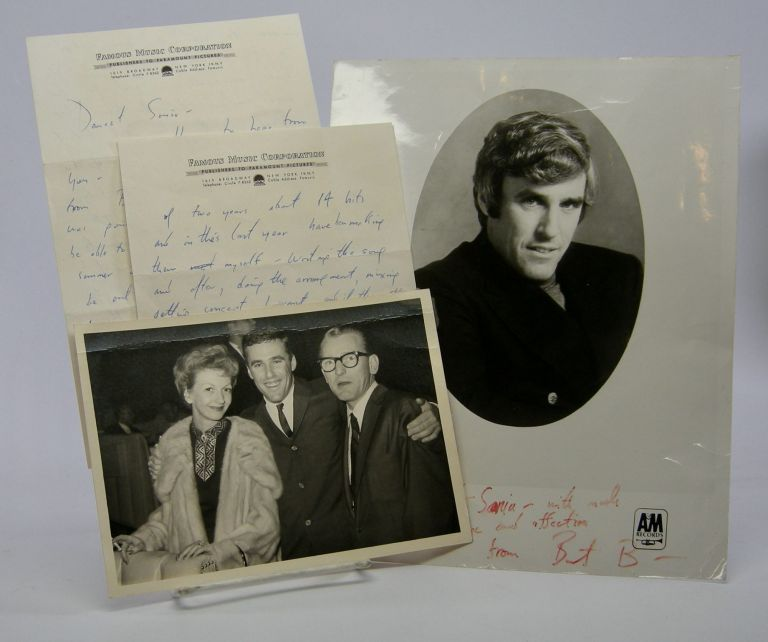 Autograph letter signed; to Sonia Shaw, June 17, 1963. Burt Bacharach.