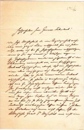 "Autograph letter signed; ""F. Betz,"" to Botho von Hülsen, January 23, 1866; with Hülsen's reply, dated the following day, on the same paper, signed ""Hülsen."" Franz Betz."