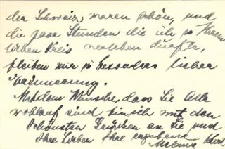 "Autograph letter signed; ""Melanie Kurt,"" to Margarete Meyer, November 27, 1935. Melanie Kurt"