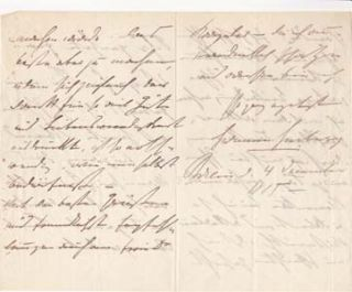 "Autograph letter signed; ""Hermann Heiberg,"" to Ulla Frankfurter (unnamed), December 4, 1885...."