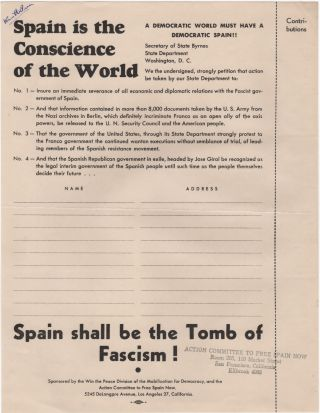 Spain is the Conscience of the World. Spanish Civil War