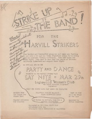 Strike Up the Band; for the Harvill Strikers . . Labor Movement