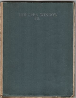 The Open Window III.; [cover title]. Katherine Mansfiled.