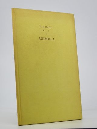 Animula.; Wood Engravings by Gertrude Hermes. T. S. Eliot.