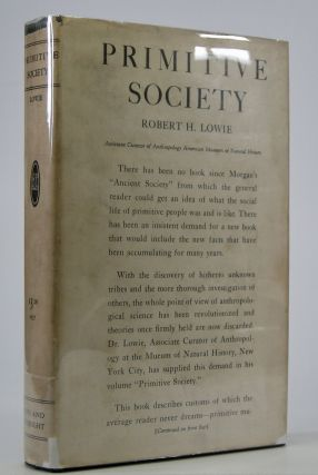 Primitive Society. Robert H. Lowie.