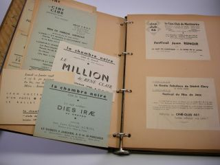 Archive of French Ciné-Club Ephemera; Comprising printed and mimeographed announcements,...