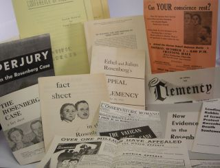 Archive of printed flyers, leaflets, and pamphlets; concerning the Rosenberg case. Julius...
